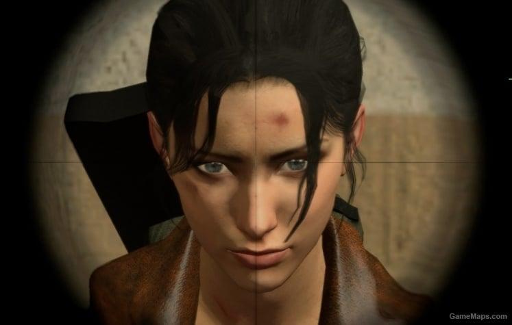 Black Hair Blue Eyes Zoey Left 4 Dead Gamemaps