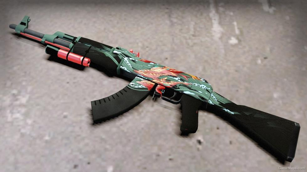 Csgo Ak47 Aquamarine Revenge Fnatic Edition Luminous