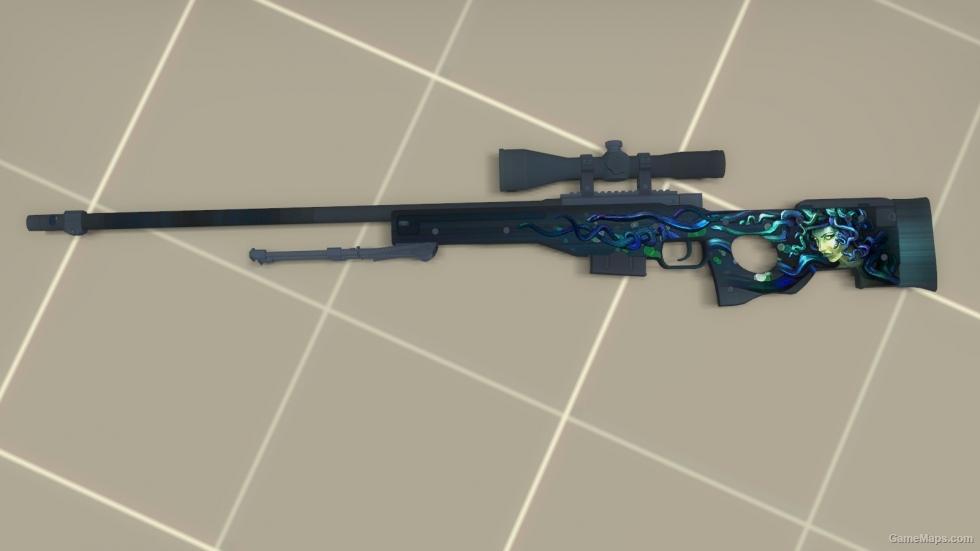 CSGO AWP Medusa Blue Ver Left 4 Dead 2