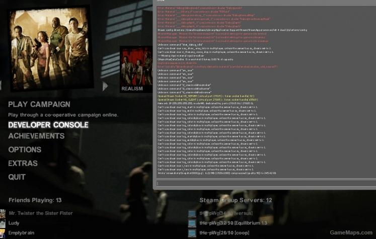 l4d2 how to open console