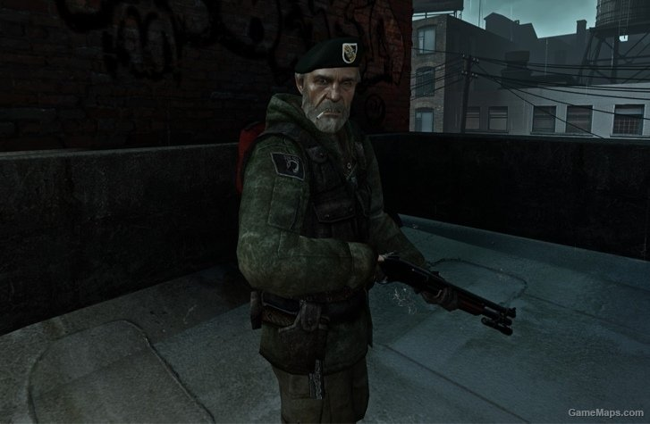 default bill with beta outfit left 4 dead 2 gamemaps