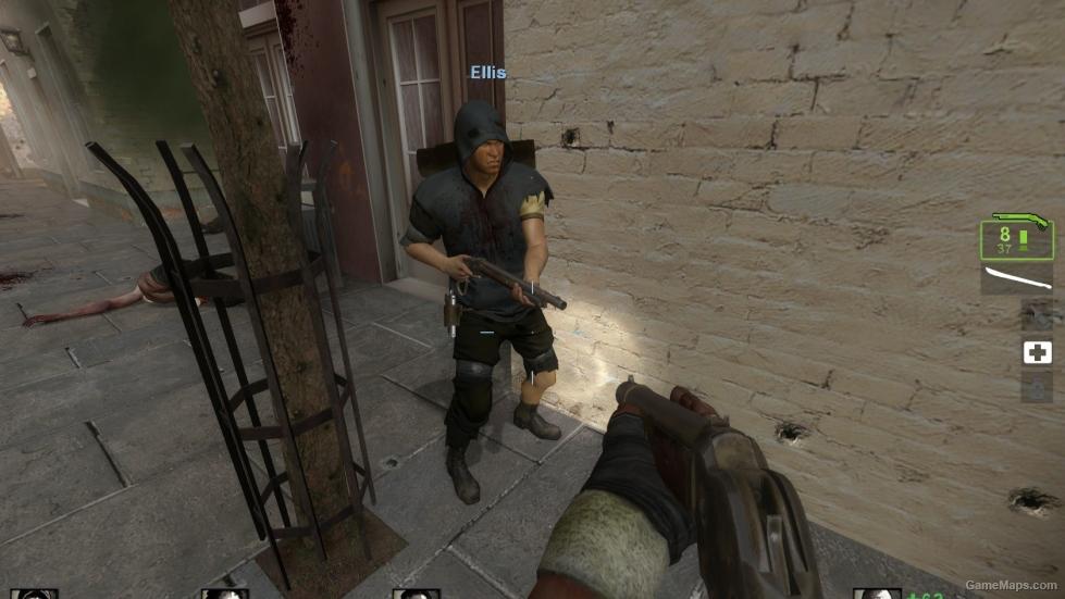 ellis in a hunter costume  left 4 dead 2
