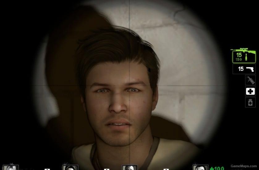 Ellis Without His Cap (Left 4 Dead 2) - GameMaps