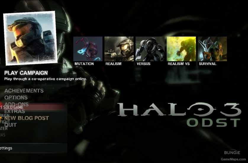 Halo 3: ODST Menu (Left 4 Dead 2) - GameMaps
