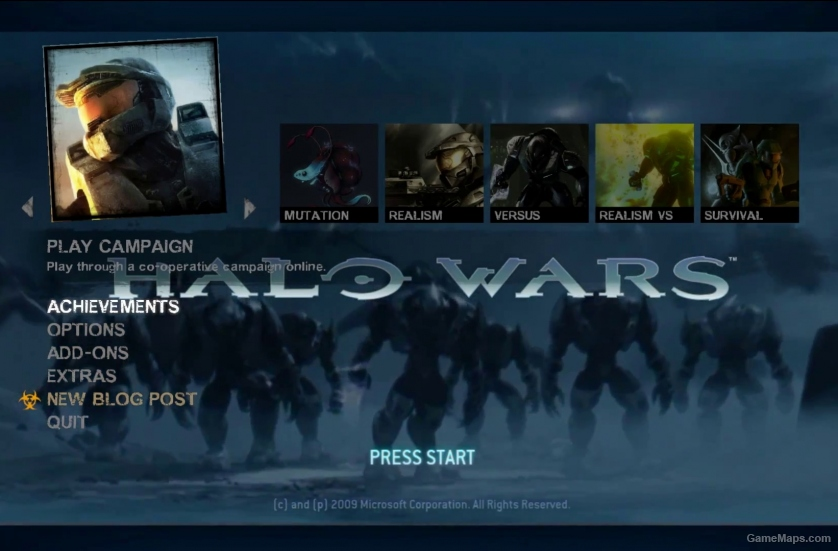 Halo Wars Menu (Left 4 Dead 2) - GameMaps