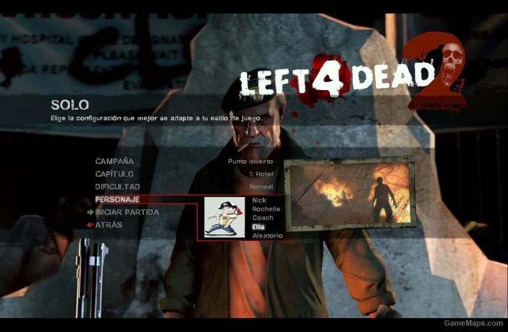 icon and panel 8 survivors cartoon (Left 4 Dead 2) - GameMaps