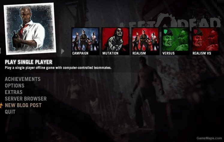 L4d1 Themed Menu For L4d2 Left 4 Dead 2 Gamemaps