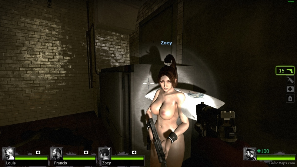 Woman using sex machine
