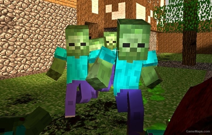 minecraft zombies  left 4 dead 2
