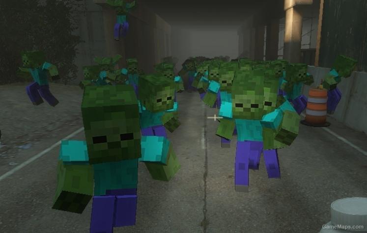 Minecraft Zombies Left 4 Dead 2 Gamemaps