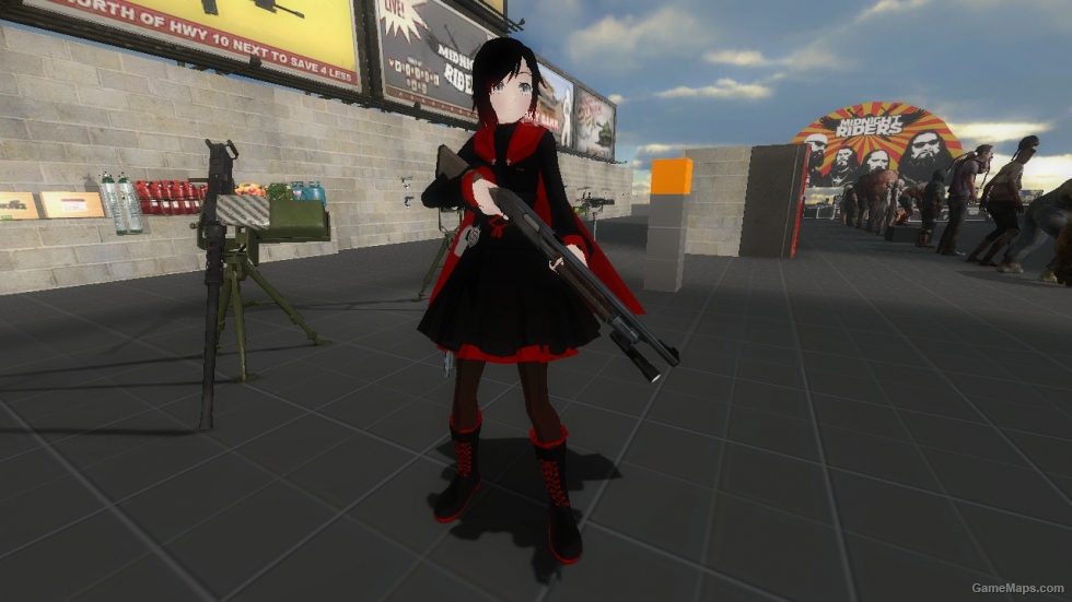 Rwby Ruby Rose Rochelle Left 4 Dead 2 Gamemaps