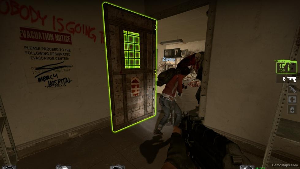 2 Door Charger >> Safe Room Doors - Wood Version (Left 4 Dead 2) - GameMaps