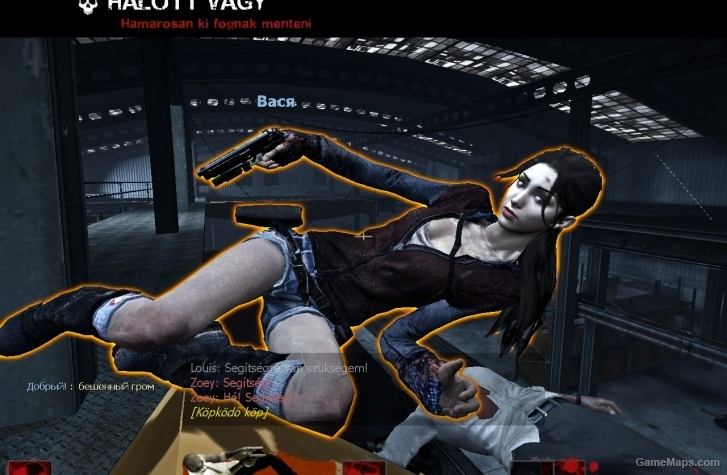 Zoey In Kat S Outfit Left 4 Dead 2 Gamemaps