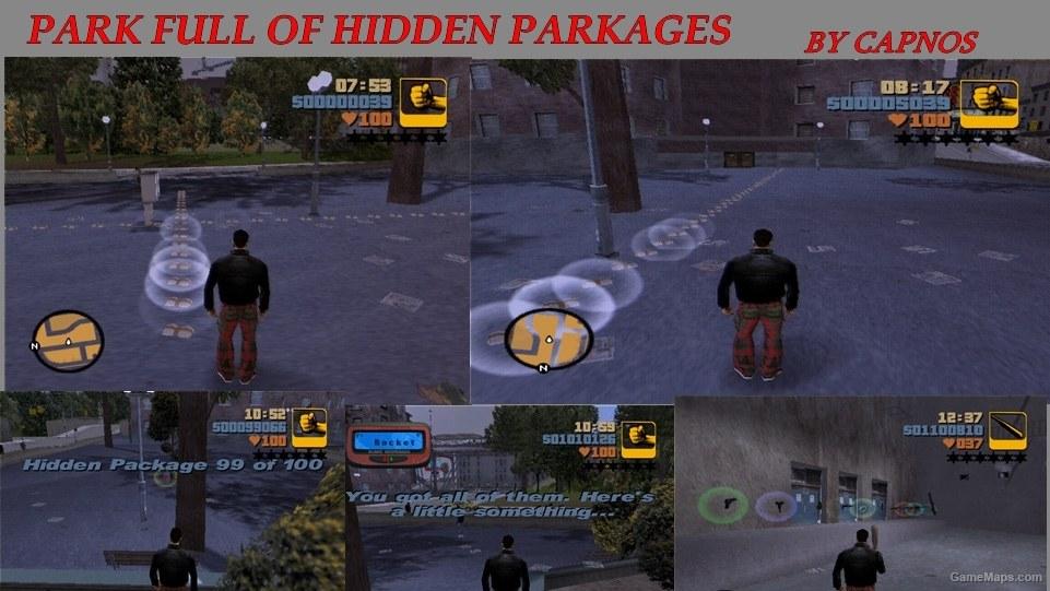 Park full of hidden packages Grand Theft Auto III  GameMaps