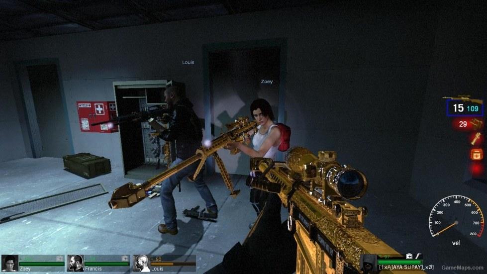 Gold Barrett 50 M82 Left 4 Dead Gamemaps