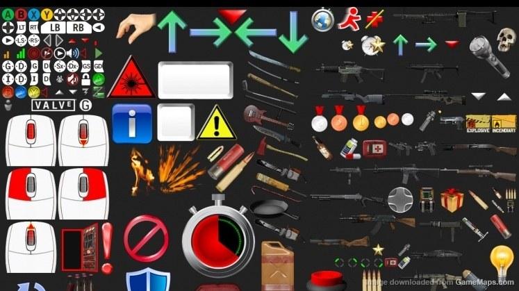 l4d2-hud style-with urik_icons-color (Left 4 Dead) - GameMaps