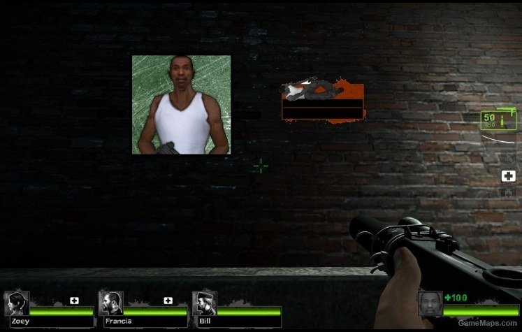 CJ from GTA:SA Replaces Louis (Left 4 Dead 2) - GameMaps