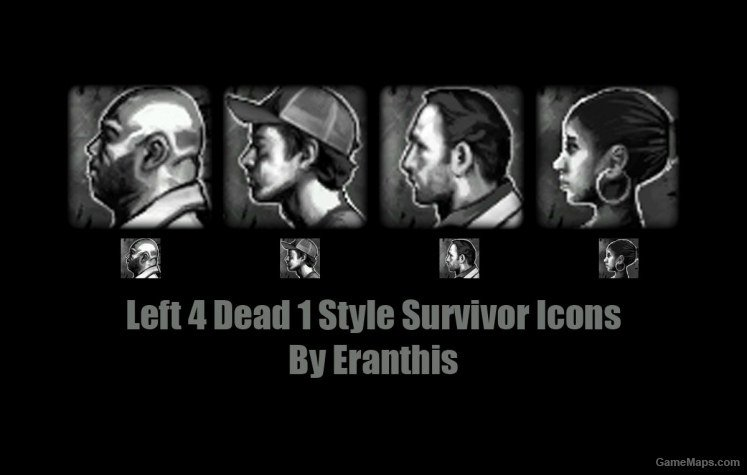 Eranthis' L4D1 Style Survivor Portrait Icons (Left 4 Dead 2