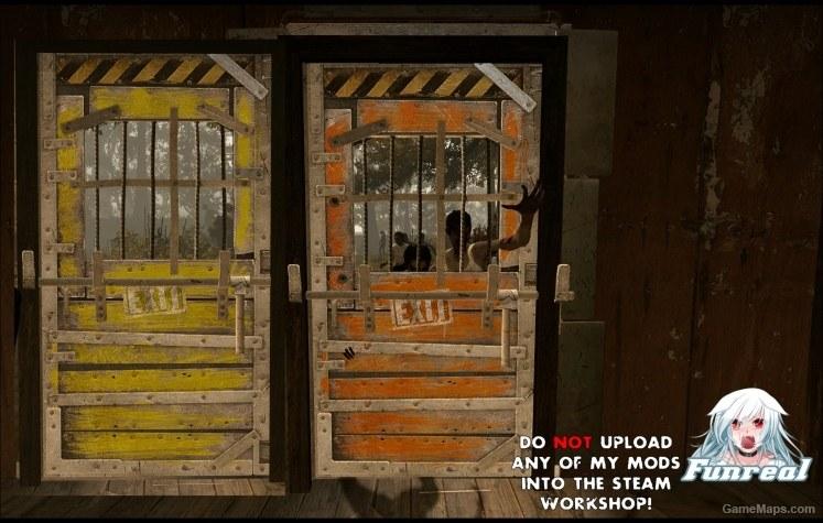 Hd Colored Saferoom Door Left 4 Dead 2 Gamemaps