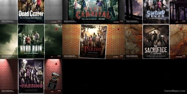 Left 4 Dead 2 Remastered Loading Screen Posters (Left 4 Dead