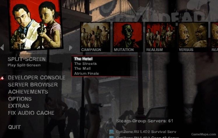 Left 4 Dead 2 Split-Screen MainMenu Mod (Left 4 Dead 2) - GameMaps