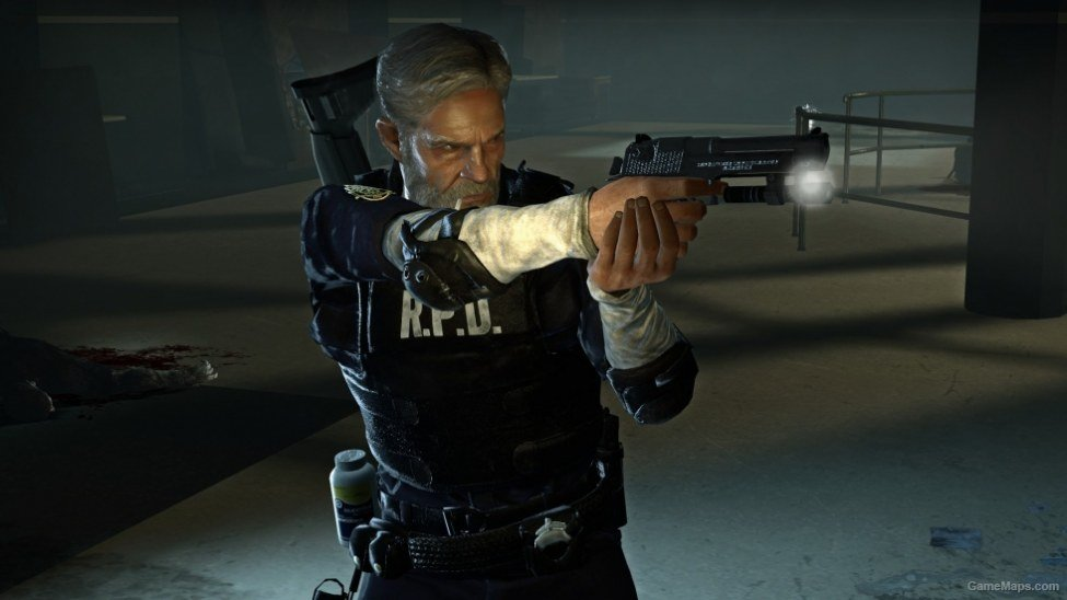 Leon Bill Kennedy Resident Evil 2 Remake Rpd Suit Left 4 Dead 2