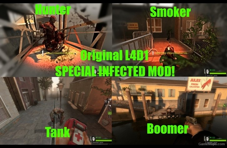 Original L4D1 Special Infected (Left 4 Dead 2) - GameMaps