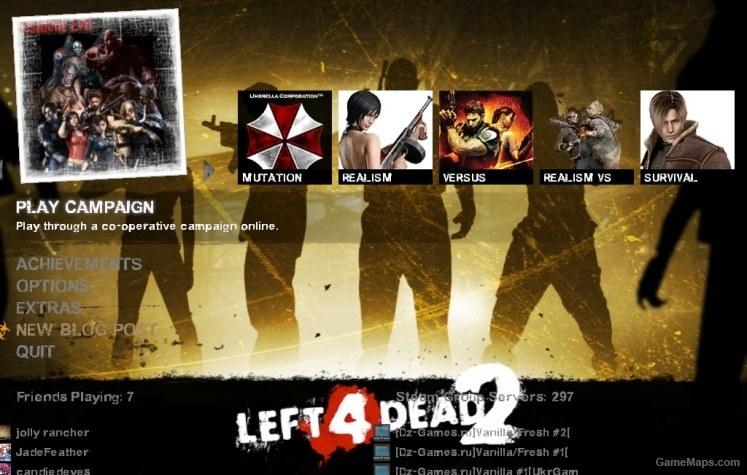 Resident Evil menu mod (Left 4 Dead 2) - GameMaps