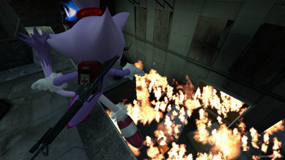 Sonic Generations Blaze the Cat (Zoey) (Left 4 Dead 2