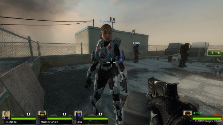Spartan Palmer No Helmet Halo 4 Left 4 Dead 2 Gamemaps