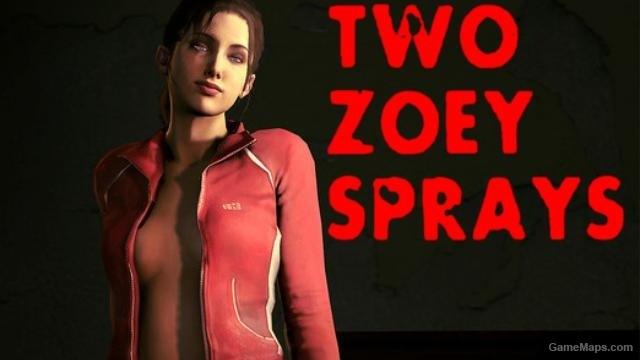 Zoey sprays (Left 4 Dead 2) - GameMaps