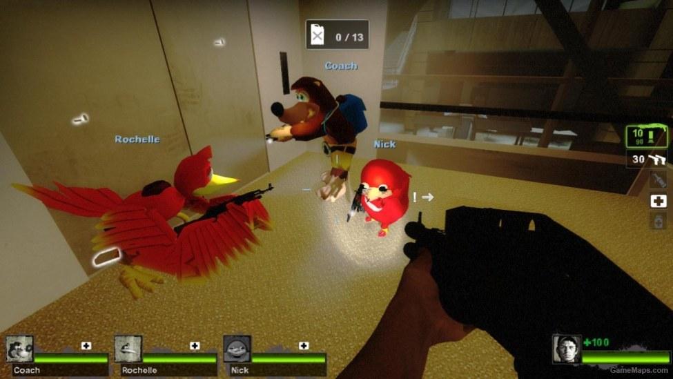 Ugandan Knuckles (Nick) (Left 4 Dead 2) - GameMaps