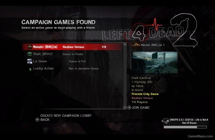 Urik Game Menu (Left 4 Dead 2) - GameMaps