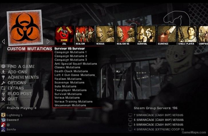 Urik Game Menu (with Rayman's Mutation Mod) (Left 4 Dead 2
