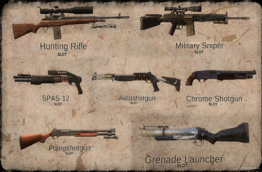 Weapons Selection Pack Left 4 Dead 2 Gamemaps