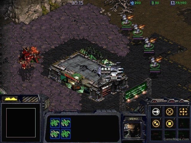 Zerg Onslaught - Mar Sara (StarCraft : Brood War) - GameMaps