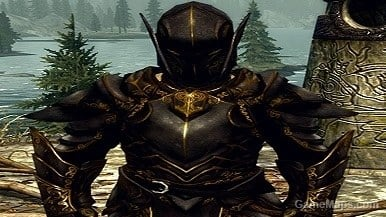Armor Ebony Gold Male (Skyrim) - GameMaps